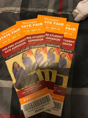 Fair tickets for Sale in Kent, WA