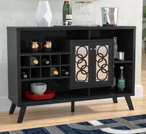 Gorgeous Wine Cabinet in Black Finish for Sale in Pomona, CA