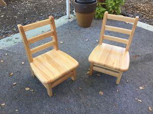 Jonti-Craft 8-inch ladderback kids chair (pair) for Sale in San Diego, CA