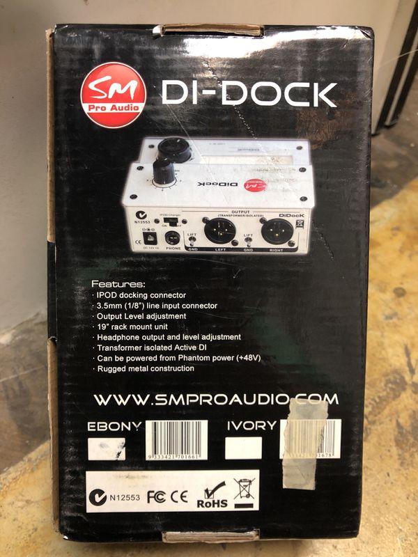 Pro audio di-dock