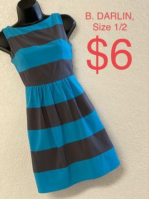 B. DARLIN, Blue & Gray Striped Dress, Size 1/2 for Sale in Phoenix, AZ