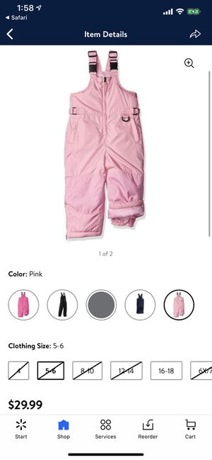 iXtreme Kids Insulated Ski Bib/Snowpant - Pink - Size 4T - $20 for Sale in Scottsdale, AZ