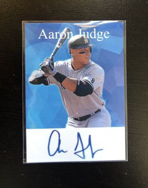 Aaron Judge Autograph Series Baseball Card for Sale in Garland, TX