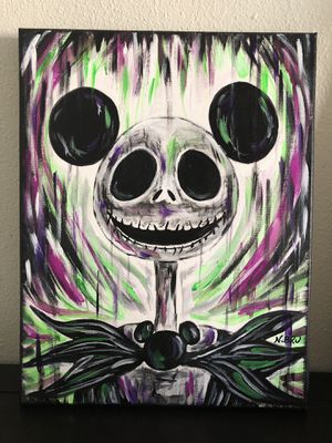 Jack Skellington with Mickey ears painting for Sale in Miami, FL