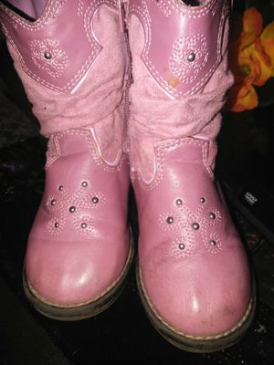 Pink boots for girls $8 ẞize 8 for Sale in Fairview, OR