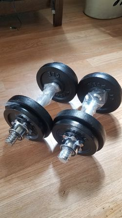 60lbs - 2x30lbs Adjustable dumbbell set for Sale in Montebello,  CA