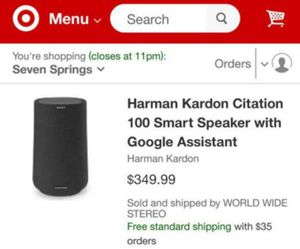 HARMON KARDEN CITATION 100 SMART BLUETOOTH SPEAKER with GOOGLE ASST. for Sale in NEW PRT RCHY, FL