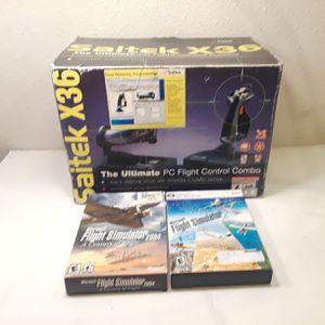 Microsoft Flight Simulator X & 2004 and PC Flight Control Combo for Sale in Anaheim, CA