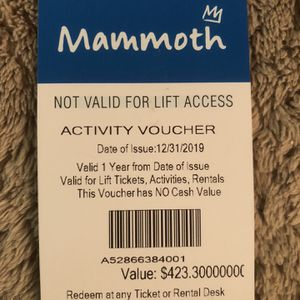 Mammoth Activity Voucher for Sale in Los Angeles, CA