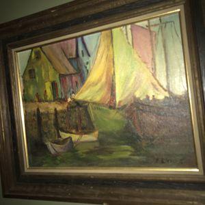 Oil on Artist Board Gloucester Harbor for Sale in Boston, MA