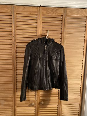 Michael Kors Women's leather jacket (hooded) for Sale in North Bay Village, FL