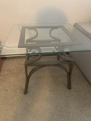 Glass Side coffee table for Sale in Pontiac, MI