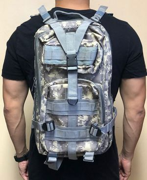 Brand NEW! Grey Digital Tactical Molle Backpack For Everyday Use/Hiking/Biking/Hunting/Fishing/Camping/Sports/Gym/Gifts $25 for Sale in Torrance, CA