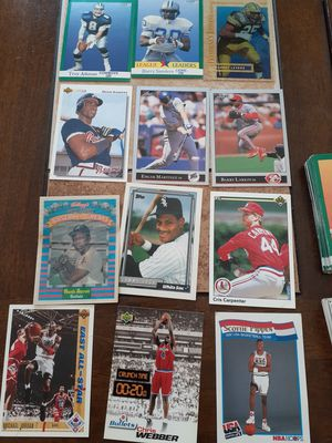 Lots of baseball basketball hockey cards. Rare cards! Multiple errors cards! for Sale in Macomb, MI