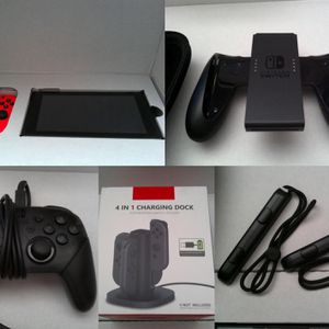 Nintendo Switch 32GB Neon Red/Neon Blue Console - Pro Controller- 128 GB & more! for Sale in Hialeah, FL
