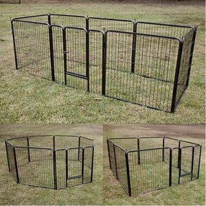 New in box 32 inch tall x 32 inches wide each panel x 8 panels heavy duty exercise playpen fence safety gate dog cage crate kennel expandable fence g for Sale in Whittier, CA