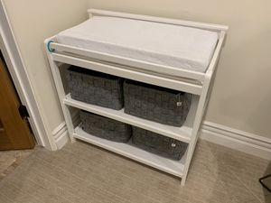 Baby changing table + changing pad + cover for Sale in Manhattan Beach, CA