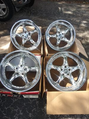 20x8.5in MAAS chrome rims. $300.00 for Sale in Tampa, FL