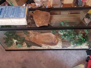 55 gallon terrarium/ aquarium with extras for Sale in Cleveland, OH