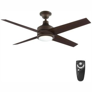 Exclusive Home Decorators Collection Mercer 52 in. Integrated LED Indoor Oil Rubbed Bronze Ceiling Fan with Light Kit and Remote Control for Sale in Port St. Lucie, FL