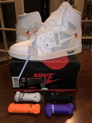 """Nike Air Jordan 1 X OFF-WHITE NRG """"OFF WHITE"""" Sz 10 DS with receipt for Sale in West Bloomfield Township, MI"""
