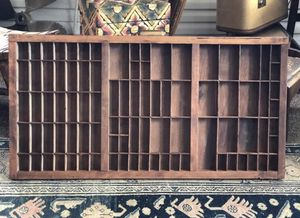 Wooden Printers Typeset Drawer Rustic Organizer for Sale in Arlington, VA