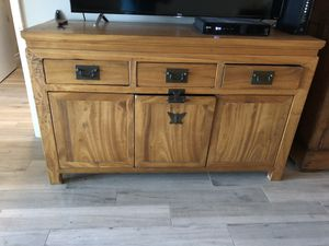 Tv stand hand Made wood for Sale in Pompano Beach, FL