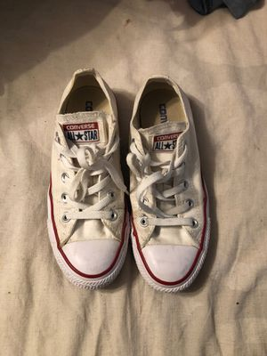 White converses womens 6 mens 4 for Sale in Bakersfield, CA