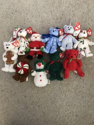 Ty teenie beanie babies holiday Christmas collection 10 small for Sale in Portland, OR