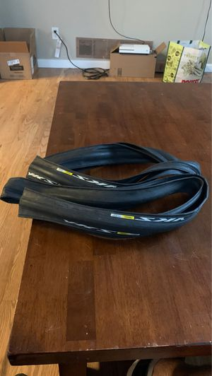 Two 700-25C Road Bike Tires - Mavic Yksion Comp for Sale in Westminster, CO