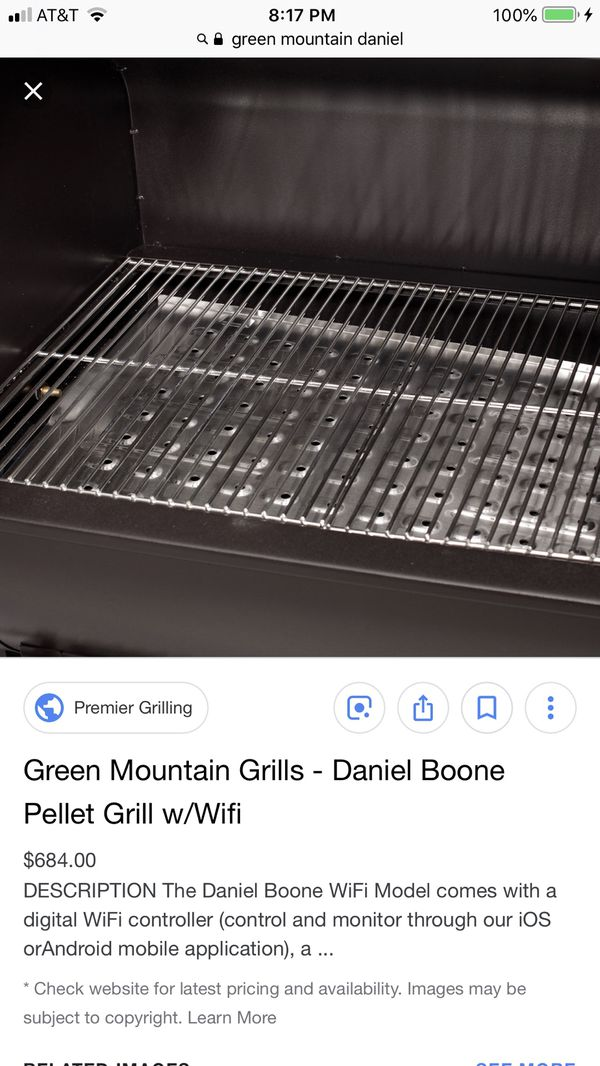 Green Mountain Daniel Boone Pellet Grill  NEW DBWF  BLACK FRIDAY! BBQ  GRILL, CHARCOAL, PELLET, SMOKER for Sale in Coral Springs, FL - OfferUp