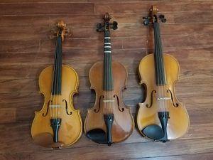 1/2, 3/4, and 4/4 (Strobel) violins for Sale in Washington, DC