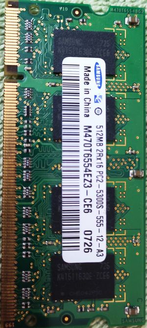 Laptop memory 512MB-PC2-5300S for Sale in San Jose, CA