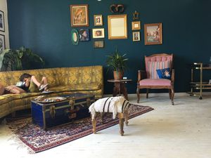 Moroccan Style Footstool   Low Profile Seating for Sale in San Diego, CA