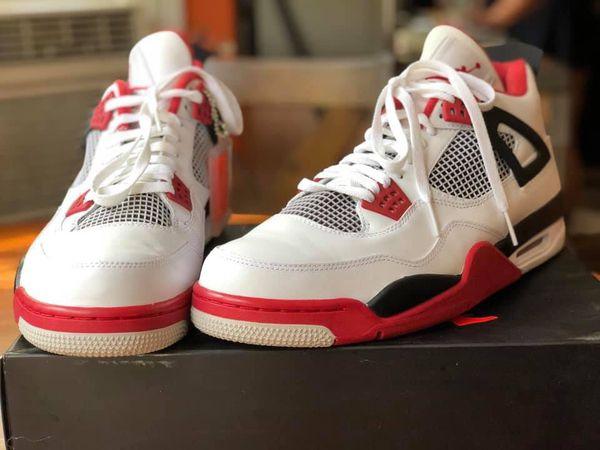 Air Jordan's 4 Retro, size 14.