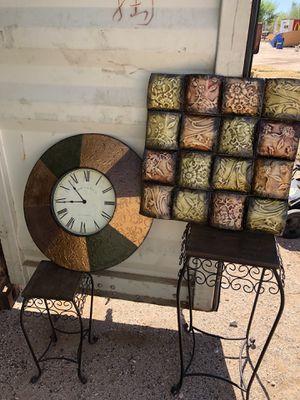 Home Wall Clock Decor Copper Set for Sale in Buckeye, AZ