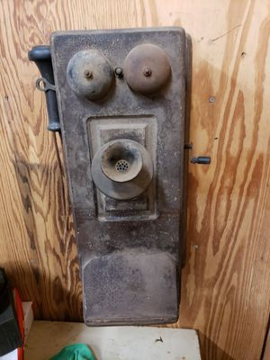Early 1903 crank wooden wall phone for Sale in Beaumont, TX