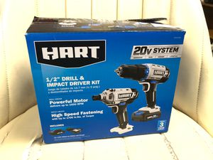 Hart 20V lithium 1/2'' drill & impact driver set for Sale in Chesapeake, VA