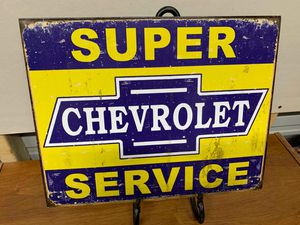 Chevrolet tin sign for Sale in Lakeland, FL