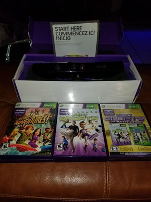 Xbox 360 kinect w/ games for Sale in Hollywood, FL