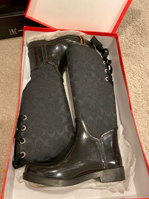 Coach rain boots for Sale in Beaumont, CA
