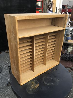 Small Wood Shelf with cubbies for Sale in Fullerton, CA