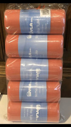 5Rolls (Hot Pink) Tulle Spool 100% Nylon , 25 Yards 6 Inches Per Roll. Wedding. Baby Shower. Bridal.Tutu. Bows. Craft.Holiday Parties. All for $10 for Sale in Middleburg, FL