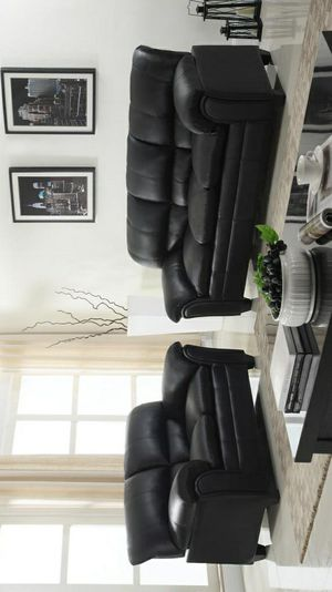 🦋Don't miss this Opportunity🦋Halo Black Sofa & Loveseat   U5192 byGlobal for Sale in Jessup, MD