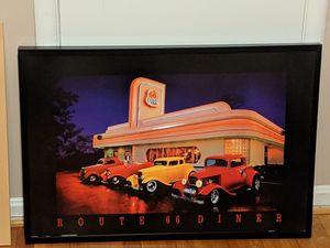Neonetics Route 66 Diner Neon LED Lighted Framed Vintage Advertisement Wall Art for Sale in Silver Spring, MD