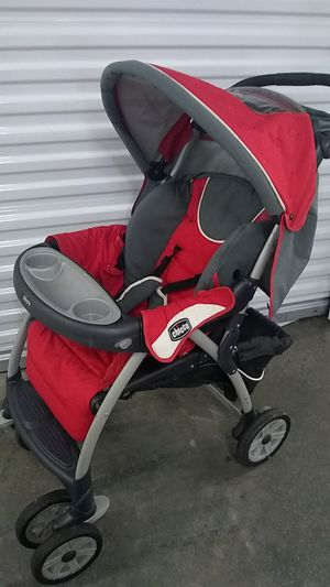 Red and grey Chicco stroller for Sale in Sterling, VA