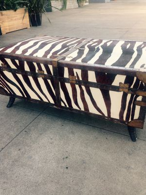 Custom made 100% zebra truck coffee table look this up online they are very expensive for Sale in San Diego, CA