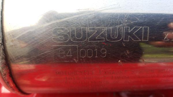Suzuki exhaust system motorcycle