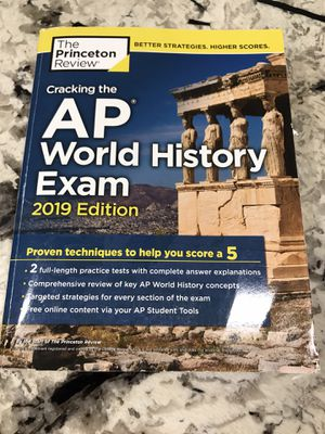 Cracking the AP World History Exam, 2019 Edition: Practice Tests & Proven for Sale in Fort Washington, MD