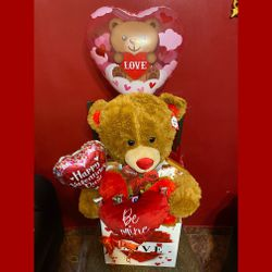 Teddy Bear Box 38 Inch With Chocolates And Balloons. for Sale in Queens,  NY